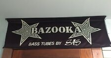 Bazooka SAS Vintage Dealer Display BANNER Advertising (Rare & Old) Used