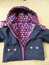 JOJO MAMAN BEBE 4-in-1 Waterproof COAT 6-12m  Fleece Lined  Inner JACKET Immac