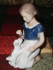 """B&G Bing & Grondahl Figurine Little Girl & Puppy Dog Terrier 2316 Mint 5"""""""