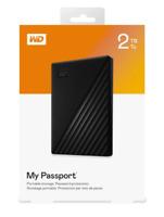 "Western Digital (WD) 2TB ""My Passport"" External Hard Drive Storage BLACK $89.99"