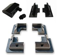 Full Set Black ABS Solar Panel Mounting Brackets with Cable Gland & Side Bracket