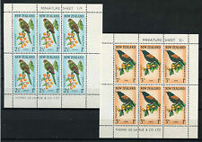 New Zealand 1962 SG#MS813b Health Stamps, Birds MNH M/S's Sheet's Set #A74573