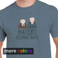 The Muppets HATERS GONNA HATE Mens T-shirt, Statler Waldorf Old Guys Kermit Tee