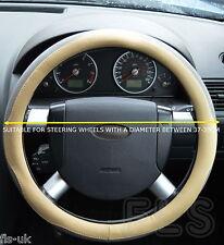 FIAT FAUX LEATHER LOOK BEIGE/GREY STEERING WHEEL COVER