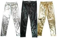 Leggings métalliques en polyester pour fille de 2 à 16 ans