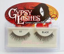 NIB~ GYPSY 97 FALSE EYELASHES Fake Lashes Black Strip