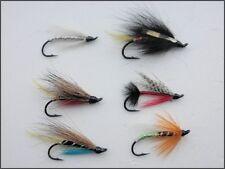 6 Salmon Flies, Single Hook Pack, 6 Varieties, Hook Size 10 - UK FREE DELIVERY