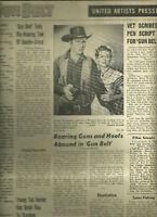 Gun Belt United Artists Pressbook Western Movie GEORGE MONTGOMERY