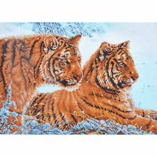 Diamond Dotz Complete Diamond Facet Art Kit Tigers In The Snow