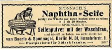 van Baerle & Sponnagel Berlin N. Naphta- Seifenpulver Historische Reklame 1899