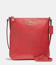 NEW COACH COURIER CROSSBODY IN SMOOTH  LEATHER TRUE RED