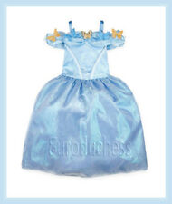 Disney CINDERELLA LIVE ACTION Deluxe Costume Blue Dress Sz 9 10 Girl Princess