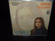 "GIGLIOLA CINQUETTI sera / se deciderai ( world music ) 7""/45 picture sleeve"
