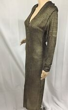 KRIZIA Snake Skin Gold Metallic Dress  Size 42 Medium