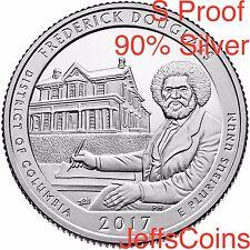 2017 S Frederick Douglas Park Quarter 90% SILVER Proof ATB via U.S.Mint Set 17aq