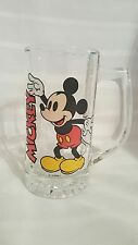 VTG Disney Retro Mickey clear faceted glass mug/stein root beer