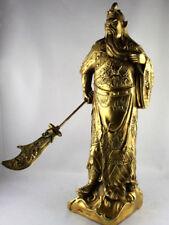 Guan Yu Statue Metallfigur Skulptur chinesische Kleinplastik aus Messing China
