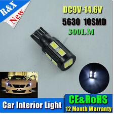 1x T10 5630/5730 6500k White 10 SMD Car Interior Wedge side Light LED Bulb 12VDC