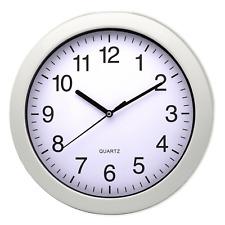 Quarz Wanduhr Uhr Silber Mebus 27cm weisses grosses Ziffernblatt