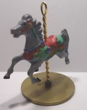 1989 Hallmark Christmas Ornament Carousel Horse Holly 2nd in Series
