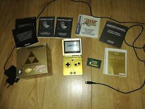 "Gameboy Advance SP Zelda Limited Edition Pak, OVP mit Modul ""The Minish Cap"""