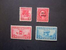 1928 US Commemorative Year Set #645 646, 649, 650  MNH OG