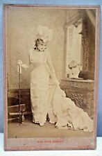 LADY MISS KATE SANTLEY SINGER VINTAGE CABINET PHOTO CARD STUDIO RARE COLLECTIBLE