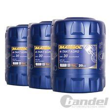 3x 20 Liter MANNOL SAE 30 4-TAKT...