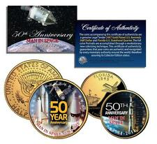 MAN IN SPACE *50th Anniversary* NASA 24K Gold U.S. Legal Tender 2-Coin Set