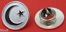 Moon & Star Lapel Hat Cap Tie Pin Badge Brooch Crescent Islam Muslim Gift