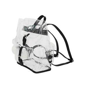 "Football Philadelphia Eagles Backpack Bag Transparent Clear 12""x4.5""x10"""