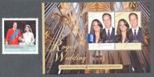 Australia-Royal Wedding 2011-mnh -3592  & Min sheet 3590-Royalty