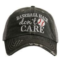 BASEBALL CAP- TRUCKER CAP -  BASEBALL HAIR DON'T CARE  HAT -MESH HAT