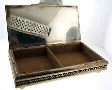 Vintage Cartier Sterling Silver Handmade LARGE Wood Cigarette Case Desk Box