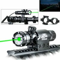 Tactical Green Laser 532nm For Rifle Remote Switch 2 Mounts Dot Scope Sight Flyg