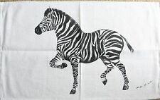 Zebra Tea Towel - Linen/Cotton Blend Tea Towel *Aust Design Natural Colour