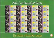 PAPUA PNG 2007 Personalised Orchids Flowers K5.35 MNH Sheet(Pap221)