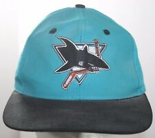 Vintage San Jose Sharks Hat - NHL Hockey The Game Fitted Cap Size 7 1/8