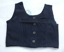 girls black sun top - great for holidays - age 13 yrs - new without tags