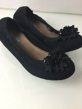 NEW Pavers Black Suede Low Wedge Shoes. Size 5/6UK. Exc Condition