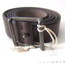 J-370889 New Brunello Cucinelli Brown Leather Buckle Belt Size-42/105
