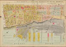 1909 WEST NEW YORK, UNION, WEEHAWKEN, HUDSON COUNTY, NEW JERSEY, COPY ATLAS MAP