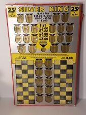 Silver King Gambling Punch Board Trade Stimulator  Five $25 - NEW