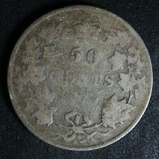 50 cents 1872H Canada Queen Victoria half dollar c ¢ G-4