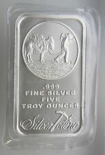 5 oz Silvertowne Minting Logo  .999 Fine Silver Bar SEALED