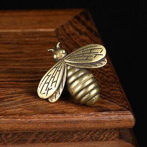 Brass Retro Bee Figurine Small Bee Statue House Ornament Animal Figurines Gift