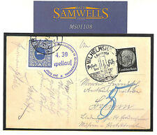 MS1108 1939 Germany Wilhelmshafen *Hitler PPC* Czechoslovakia Postage Dues
