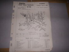 ZENITH 34VN CARB FORD CONSUL MK2 SPARE PARTS SHEET