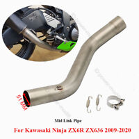 Exhaust System Mid Link Pipe Tube For 2009-2017 Kawasaki Ninja ZX6R ZX636