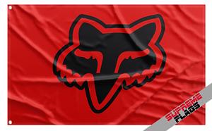 Fox Racing Flag Banner (3x5 ft) Head Garage Red